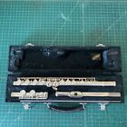 YAMAHA+Model+225S+Silver+Flute+with+Hard+Case+Made+in+JAPAN+vintage+student