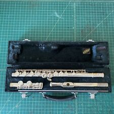 YAMAHA Model 225S Silver Flute with Hard Case Made in JAPAN vintage student