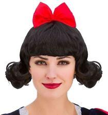 Adult Ladies Snow White Princess Fancy Dress Wig Book Week Accessory
