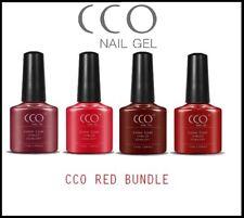 CCO RED COLOUR SET UV LED NAIL GEL POLISH VARNISH NAILS SOAK OFF PROFESSIONAL