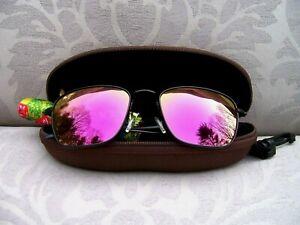 *New* MAUI JIM SPINNAKER Black Matte/Maui Sunrise Polarized Sunglasses ~ P545-2M
