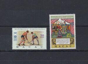 Portugal - Macao/Macau Two Stamps MNH