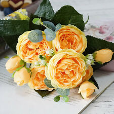 13 Heads Silk Peony Artificial Flowers Peony Wedding Bouquet Home Party Decor s5