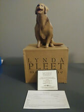 Vintage Lynda Pleet Golden Retriever Dog Figurine, Signed By The Artist