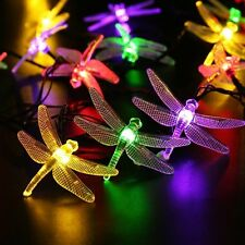 20 LED Solar Lichterkette Libelle Party Außenbeleuchtung Gartendekoration Neu