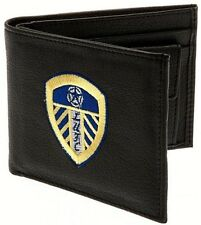 Leeds United AFC Official Football Gift Embroidered Wallet Black 99