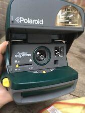 Una paso Polaroid Express 600 Cámara versión verde de trabajo correa/mango roto
