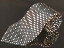 Mens tie Covington and black White square pattern Geometric classic buisness tie