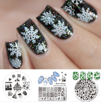 Christmas Nail Art Stamping Plates Born Pretty Xmas Snowflake Image Celebration