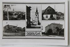 27190 Foto AK Dobruska Schule Kirche Straße Fabrik Deutsche Dienstpost Böhmen