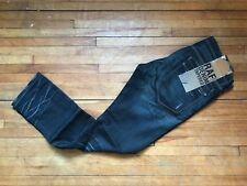 RAF by RAF SIMONS RARE CREASED WASHED DARK BLUE DENIM TAPERED JEANS S 32