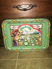 Vintage Cabbage Patch Kids TV, Bed, and Play Tray (Made in USA)1983