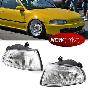 For 92-95 Civic EG6 2/3DR Coupe Hatchback Clear Amber Corner Turn Signal Light