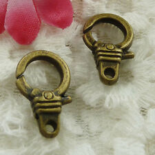 Free Ship 90 pieces bronze plated cute lobster clasp 19x12mm #1332