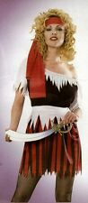 SEXY-WOMEN PIRATE WENCH COSTUME IN ONE SIZE HALLOWEEN FANCY DRESS.