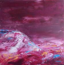 art contemporain TABLEAU ABSTRAIT PEINTURE de HZEN paysage -TERRES PERDUES 50x50