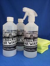 WATERLESS CAR WASH WAX JUST SPRAY WIPE & SHINE KIT