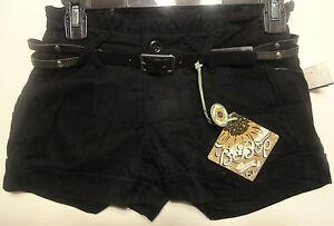 BeBop black shorties Ladies shorts juniors sizes 0, 1, 3, 5, 13, 15