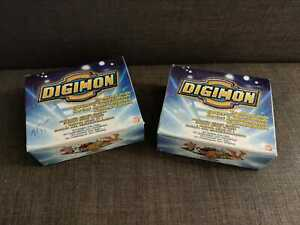 2 x English Digimon booster box, trading card, Series 1, 1999, animated.