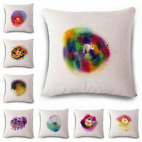 Creative color Cotton Linen Throw Pillow Case Cushion Cover Home Sofa Decor