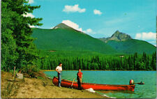 Needle Point Mountain from Grizzly Lake near Barkerville BC Boat Postcard D89