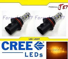 CREE LED 50W 9004 HB1 ORANGE AMBER TWO BULB HEADLIGHT PLUG PLAY REPLACEMENT JDM