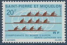 SAINT PIERRE ET MIQUELON N°405** Bateau, Aviron, SPM 1970 Rowing MNH