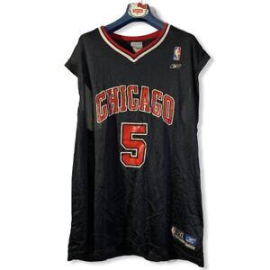 Jalen Rose #5 Chicago Bulls XXL Black Reebok Vintage NBA Jersey