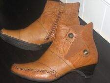 JANNA LEATHER ANKLE BOOTS