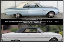 FORD FALCON FUTURA   1963-65 CONVERTIBLE TOP+WINDOW - WHITE HAARTZ VINYL