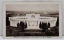 RPPC Memorial Amphitheatre From Mast Of USS Maine 1920s Postcard B4