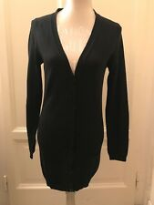 Cardigan lungo nero BENETTON black long cardigan S
