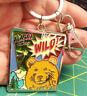NEW Alaska Keychain - Comic book theme Alask is WILD! grizzly metal keyring