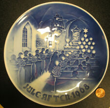 Collectible 1968 Plate Christmas in Church by Bing and Grondahl Denmark signed