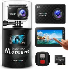 VanTop Moment 4 4K Sports Action Camera 20MP Sony Sensor Touch Screen 4.2in LCD