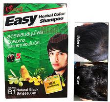 Caring Easy 5 Mins. Herbal Color Shampoo No Ammonia # B1 Natural Black For Men