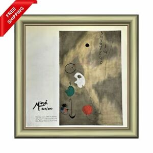 Joan Miro Original Print - Signed and Stamped by Gallery with COA