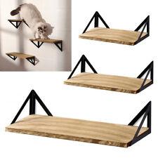 Set of 3 Metal & Wood Wall Floating Storage Shelf Bracket Display Shelving Rack