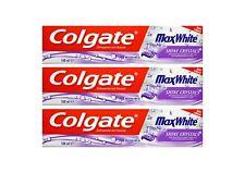 3x 100ml Colgate Max White Shine Crystals Toothpaste Zahnpasta mit Fluorid NEU