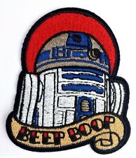 Star Wars R2-D2 Iron On Embroidered Patch Beep Boop Free P & P