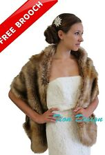 Vintage Brown Faux Fur Stole | TionDesign | MN