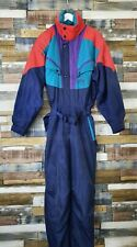 Tenson Air Push Mens Blue Vintage All-In-One Ski Suit Size EUR 54