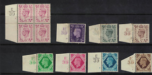 GB stamps - 1938 george vi - control tabs - better noted mint h / mint nh