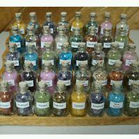 7 Mini Gemstone Bottles Chip Crystal Healing Tumbled Gem  Reiki Wicca Stones Set
