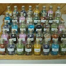 7 Mini Gemstone Bottles Chip Crystal Healing Tumbled Gem  Reiki Wicca Stones Set