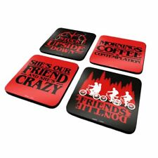 Stranger Things Quotes Drinking Coaster Set - Beer Mats Boxed Retro Gift