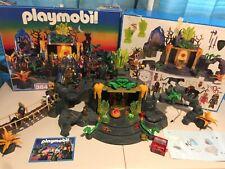 Playmobil 3841 Magic Knights Dragon Temple Jungle Treasure RARE 100% Old Gold