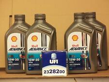 Shell Advance Ultra 4t 15w-50/UFI FILTRO OLIO MZ 1000 S Bj 03 - 07