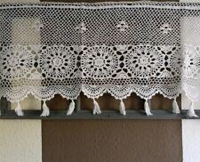 Scheibengardine Landhaus Bistrogardine Vorhang Shabby Vintage  weiß 45x130cm