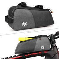Bicycle Bag Frame Front Top Tube Cycling Bag Storage Phone MTB Bike Bags Gray
